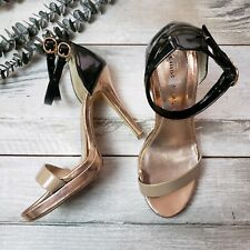 Chinese Laundry Size 7 Imagination High Heels Pumps Open Toe Ankle Strap 023