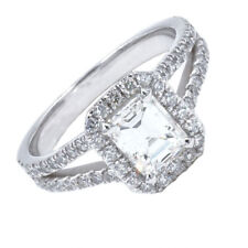 GIA Certified Diamond Engagement Ring 1.75 CTW Emerald Cut 18K Gold