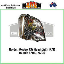 HEADLIGHT suit HOLDEN RODEO RA R/H RIGHT DRIVER SIDE 2003-2006