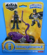 FISHER PRICE IMAGINEXT DC SUPER FRIENDS CATWOMAN FIGURE w/ MOTORCYCLE & WHIP NEW