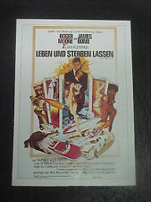 LIVE AND LET DIE, film card [Roger Moore as James Bond, Jane Seymour]