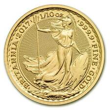 Piece or Britannia 1/10 once or pur 2017 10 pounds oz gold coin UK