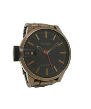 Nixon A198 872 Chronicle SS Men's Copper Tone Black Round Analog Date Watch