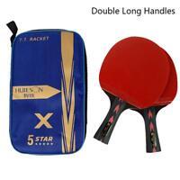 Huieson 2Pcs Carbon Fiber Table Tennis Racket Ping Pong Paddle Bat With Bag Set