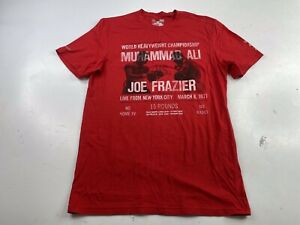 Under Armour UA Heatgear Charged Loose Muhammad Ali T-Shirt Red Men's Small