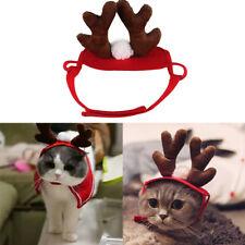Costume Chapeau Rennes Antlers Serre tête Bandeau Pour Chat Chien Halloween Noël
