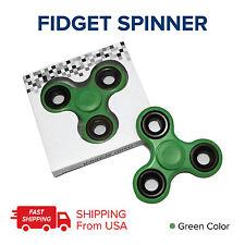 GREEN FIDGETS LOT 100 TRI FIDGET HAND SPINNER FIGET SPINNERS STEEL FINGER USA