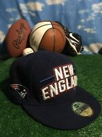 Rare New England patriots fitted new era 5950 59fifty hat cap 7 3/8 h37