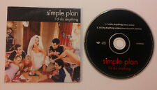 SIMPLE PLAN I'd do anything cd single rare 2 tracks