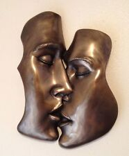 "FANTASTIC COLD CAST BRONZE WALL PLAQUE ""THE KISS"" EROTIC ART BRAND NEW & BOXED"