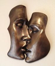 "FANTASTIC COLD CAST BRONZE WALL PLAQUE ""THE KISS"" EROTIC ART BRAND NEW & BOXED"