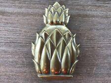 Virginia Metal Crafters Newport Solid Brass Pineapple Door Knocker 4022
