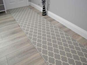 Silver Trellis Hall Hallway Corridor Wide Narrow Floor Carpets Rugs Cheap