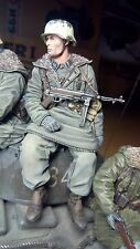 german soldier tankrider MP-40 scale 1:16 Resin kit 120 mm