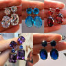 Turkish Handmade Boho Jewelry 925 Silver Amethyst Ear Stud Dangle Women Earrings