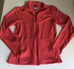 Nike Dri-Fit Running Long Sleeve Track Jacket Full Zip Women's Medium Berry Pink