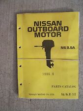 1986 Nissan Outboard Motor NS 3.5A Parts Catalog     LOTS MORE IN OUR STORE!   U
