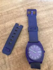 Nixon Time Teller Purple Watch needs new band and battery