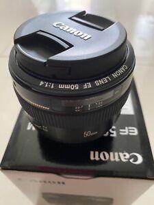 Canon EF 50mm F1.4 USM AF Standard Lens for EOS EF Mount Like New mint Condition