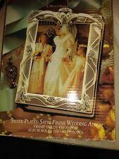 Vintage Godinger Silver Plated Satin Finish Wedding Album Holds 100 /4 X 6 - NEW