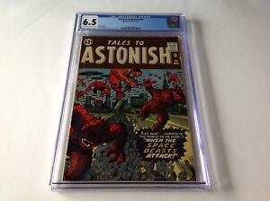 TALES TO ASTONISH 29 CGC 6.5 FLYING SAUCERS SPACE BEASTS ATTACK MARVEL COMICS