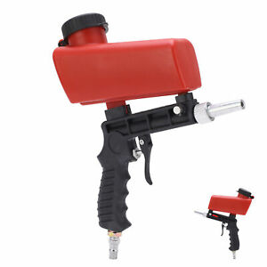 90psi Air Sandblasting Gun Handheld Sand Blaster Portable Shot Media Blasting