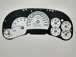 US Speedo SS Style LED Edition White Gauge Face 2006 07 2500 Diesel GM Clusters