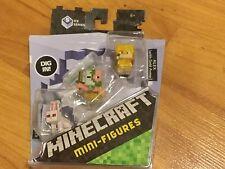 LOT 2 PACKS NEW Minecraft Mini-Figures 3 Pack Killer Rabbit Zombie Pigman & Alex