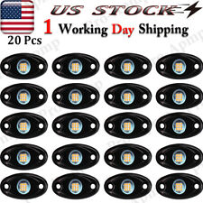 9W Amber Underbody 20 Pods Led Rock Lights For Chevy Jeep Offroad Atv Utv Boat