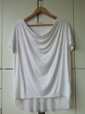METALICUS Sz S/M White Pleated Top VGC