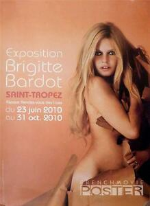 BRIGITTE BARDOT NAKED - SAINT TROPEZ EXHIBITION 2010 - ORIGINAL FRENCH POSTER