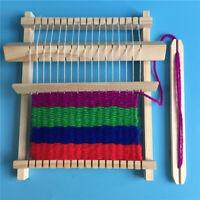 Wooden Weaving Loom Craft Yarn DIY Hand Knitting Machine Kids Educational To Kn
