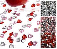 45 Stück Spiegel Diamanten Spiegeldiamantan Dekosteine klar Deko Herzen Ø 16 mm