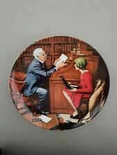 """The Professor"" 10th Plate-Rockwell Heritage Collection-Knowles"