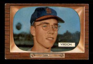 1955 Bowman Set Break #296 Bill Virdon VG-EX Crease *OBGcards*