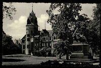 Detmold Nordrhein Westfalen s/w AK 1950/60 Blick auf das Schloß Denkmal Park