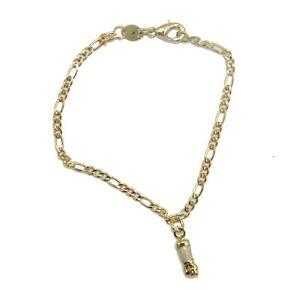 Figa Hand MOP Charm Bracelet 18K Gold Plated - Figa Hand Bracelet 6 inch