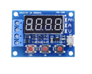 Lithium Ion 18650 and Lead Acid Battery Capacity Tester