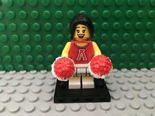 LEGO Series 8 - Red Cheerleader Minifigure w/ pom poms