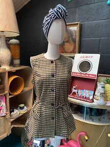 Pink Original 60s Tunic Top Waistcoat Buttons Vintage Mod Twiggy Alexon