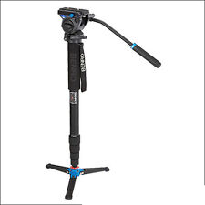 Benro A49TDS4 Series 5 Aluminum Monopod w/ 3-Leg Locking Base & S4 Video Head