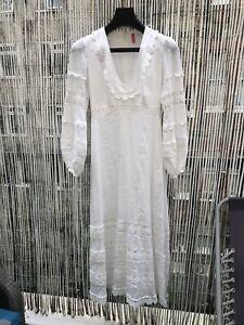 Zimmermann White Long Linen Dress Size 0
