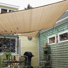 Square Rectangle Beige Curve Sun Shade Sail Home Garden Pool Patio Cover Canopy