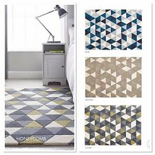 ORIGIN CONTEMPORARY ABSTRACT HAND TUFTED WOOL RUG HONEYCOMB 3 SIZES 3 COLOURS