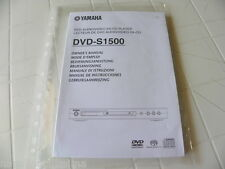 Yamaha DVD-S1500 Owner's Manual  Operating Instructions Istruzioni