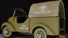 Dodge Army Truck Pedal Car WW2  U S Military Ambulance Vintage Midget Model