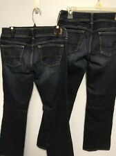 American Eagle Jeans Lot Slim Boot Size 8 Regular 2 Pair