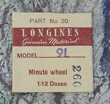 Vintage Longines watch 9L minute wheel NOS Swiss part in original packaging