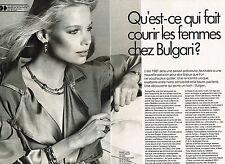 PUBLICITE ADVERTISING 014   1981   BULGARI  joaillier ( 2 pages)