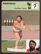 GEOFFREY CAPES British Shot Put Track Field 1978 FRANCE SPORTSCASTER CARD 68-01